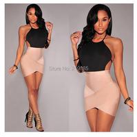 2015 году последние моды лета сексуальный v-образным вырезом покинуть плеча пакет хип платье bodycon клуб повязку платье плюс размер s-xxl