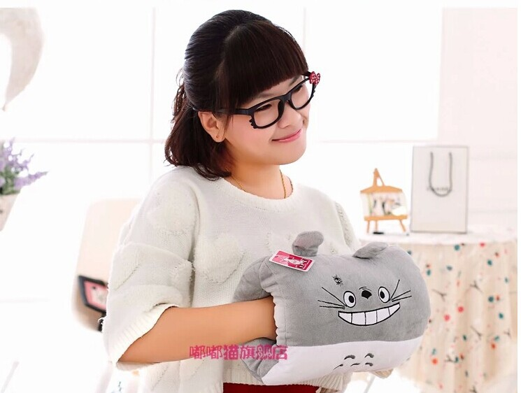 winter warm hand pillow cartoon totoro toy , anime design muff , about 30cm w2836(China (Mainland))