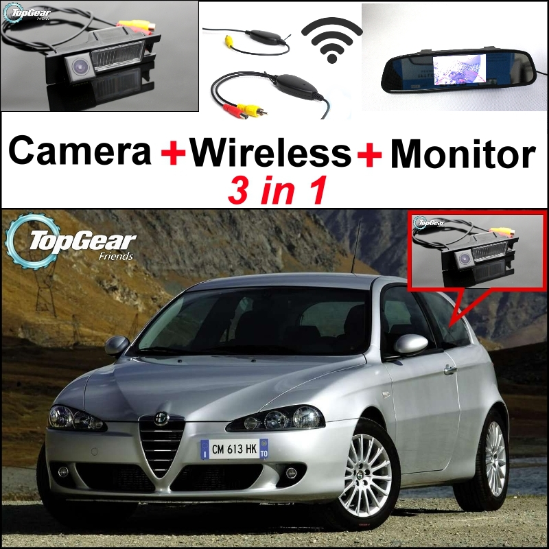3in1 Special WiFi Rear View Camera + Wireless Receiver + Mirror Monitor Easy DIY Backup Parking System For Alfa Romeo 147 AR<br><br>Aliexpress