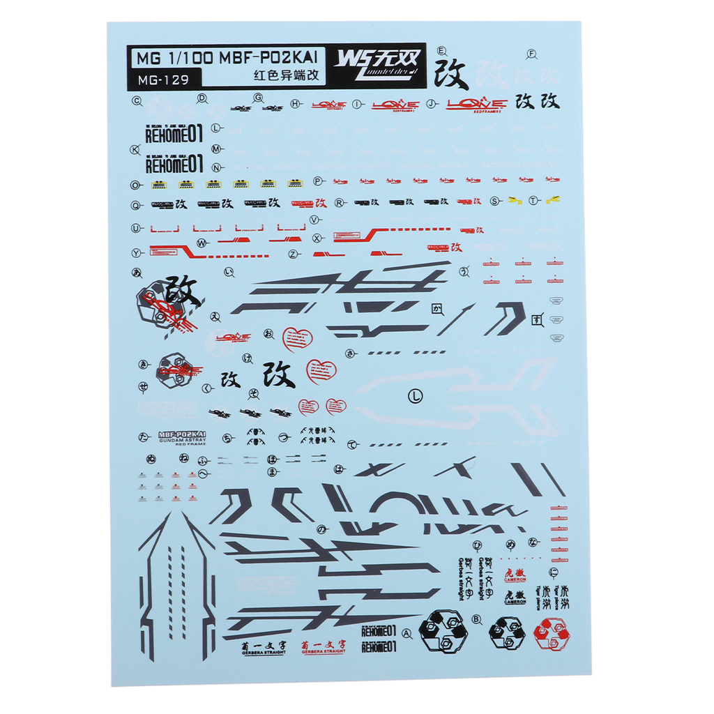 Model Decal Water Slide Stickers Toys Model Tools for MG 1/100 Gundam Model Accessory
