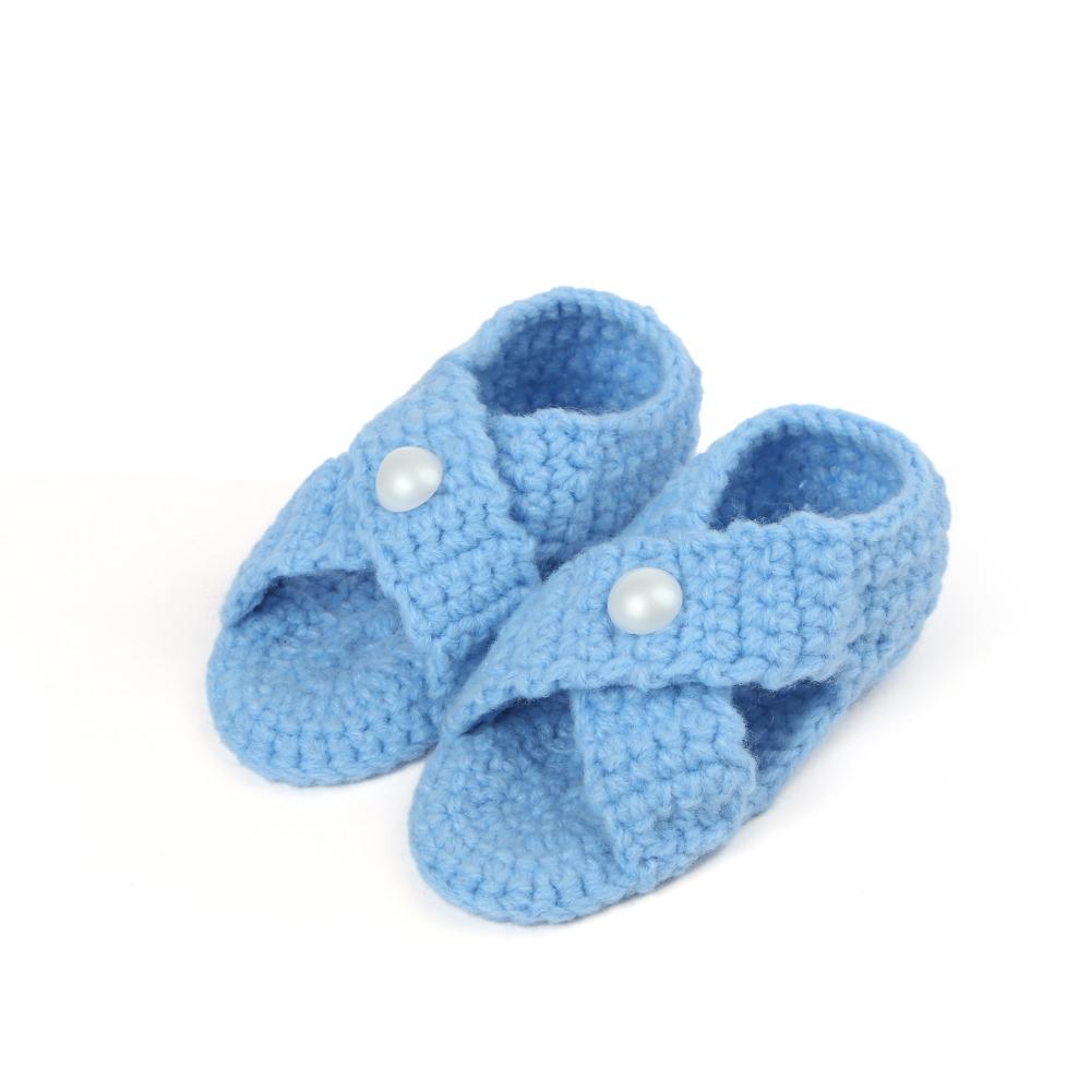 Tipsietoes del bebé del ganchillo patrones peppa bebés mano los zapatos de bebé de punto , niña , niño lana mejores zapatillas para caminar ROH1025(China (Mainland))