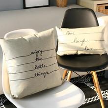 European literature art linen pillow cushion ,pillowcase