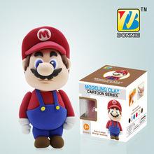 DIY color clay mud plasticine Super Mario Bros Luigi Action figures learning & education classic toys Christmas gift