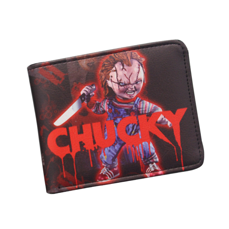 Vintage Wallet Hot Movies Wallet BRIDE OF CHUCKY Purse Small Leather Wallet For Movie fans Dollar Bill Holder Purse High Quality
