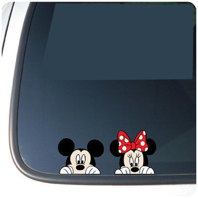 Buy Mickey Minnie Mouse Peeking Vinyl Funny Car Decal