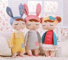 New Arrival Metoo Angela Dolls Cute Bunny Rabbit Boneca Baby Stuffed Animal Plush Toys Doll For Kids Christmas Birthday Gift(China (Mainland))