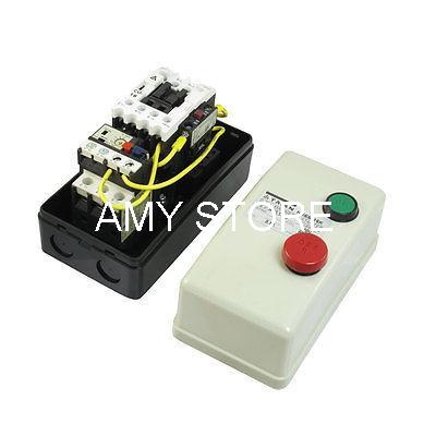 On Off Switch Enclosed Three Phase Motor Magnetic Starter 380V Coil 5.5-8.5A<br><br>Aliexpress