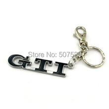 3D metal Auto GTI  Car keychain  for vw jetta cc passat polo golf  keychain key ring keyring DHL freeshipping(China (Mainland))