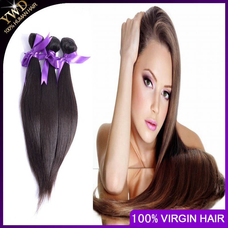 Russian Human Hair Straight Unprocessed 5A Virgin Human Hair Silky Straight Russian Virgin hair 2 Bundles Cheap Weave Online