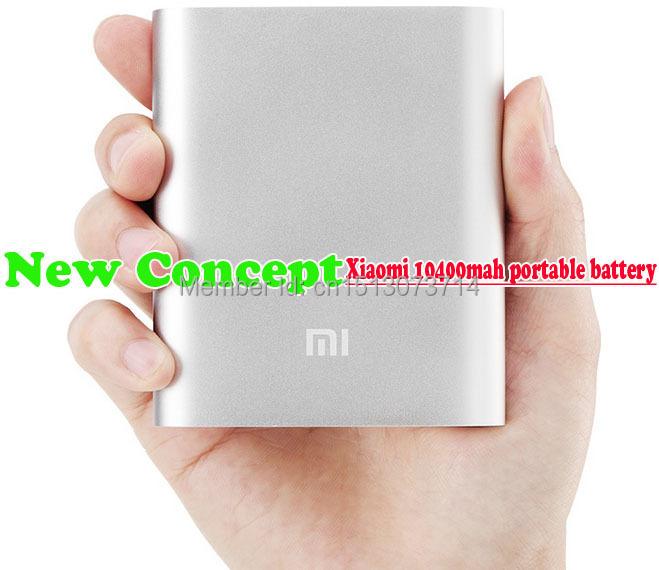 Best seller all 100% Original Xiaomi Power Bank 10400mAh Xiaomi portable battery Xiaomi Phones Andriod phone fastest shipping(China (Mainland))