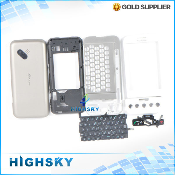 10 pcs/lot free shipping black and white 100% original replacement parts full housing for HTC dream G1(China (Mainland))