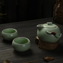 New 2014 Ru Yao/Ru Kiln Tea Set,Drinkware Coffee & Tea Sets, Ceramic Chinese Kung Fu Tea Set ,travel tea set,Free Shipping