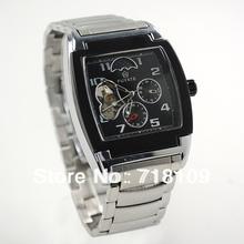 Nueva Men Square reloj mecánico reloj del análogo de Armbanduhr