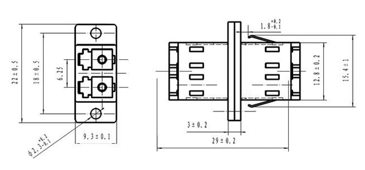 multimode optical fiber adapters twin
