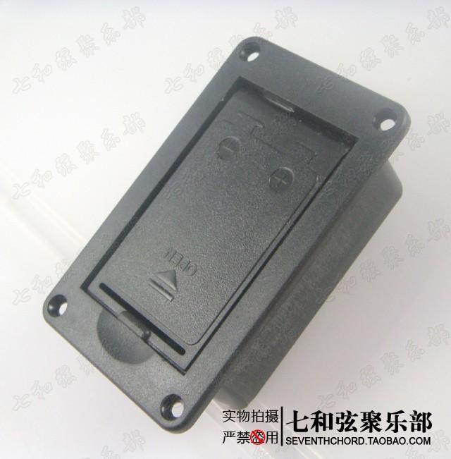 Black plastics LJ-05 active pickup 9V bass battery compartment/guitar battery box/empty battery compartment(China (Mainland))