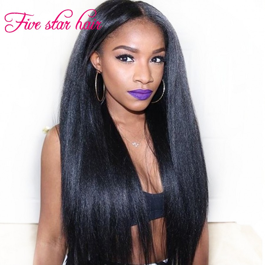 2016 Instock 8A Light Yaki U Part Wig Virgin Brazilian Hair Loved By African Americans U Part Human Hair Wigs fast shipping <br><br>Aliexpress
