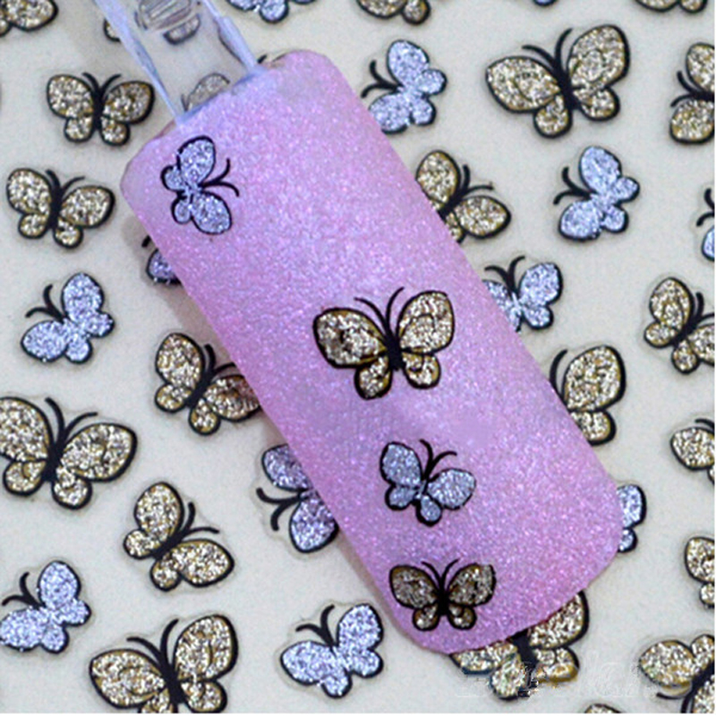 Beauty Nail Design Lovely 3D Decorations for Nails Sticker Art DIY Cute Shinning Nail Stickers Manicure for Gills(China (Mainland))