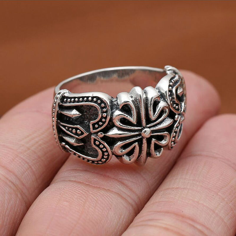 Innovative new cross pattern ring 100% 925 sterling silver jewelry for men or women wedding ring vintage jewelry silver 2016 GR9<br><br>Aliexpress