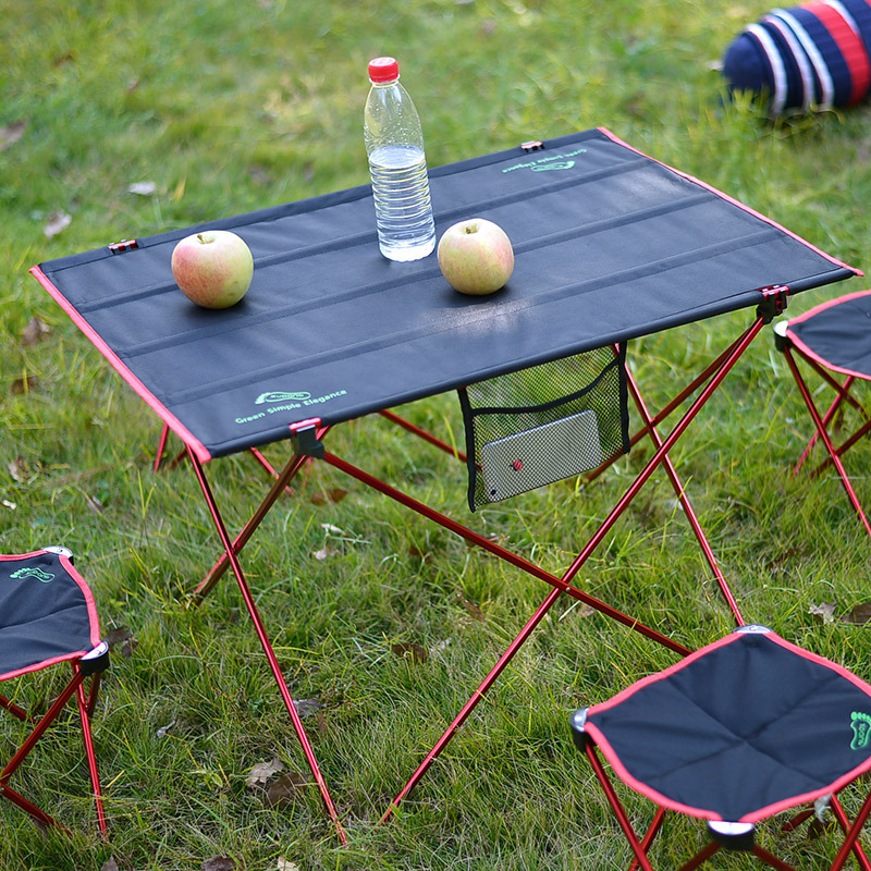 free shipping large size Picnic outdoor camping portable folding table Aluminum Alloy folding table stall fishing table chair(China (Mainland))