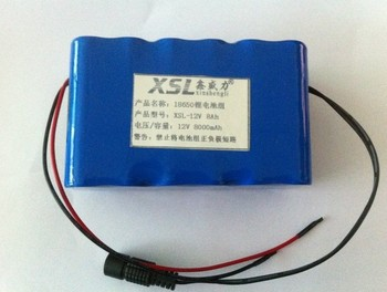 New DC 12V Portable 8000mAh Li-ion Super Rechargeable Battery Pack + 12.6V 1A  charger