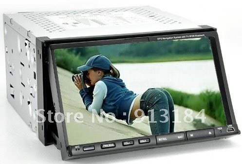2 DIN Car DVD with 7 Inch TFT LCD High Definition 800*480 Touch Screen, Bluetooth, TV, FM