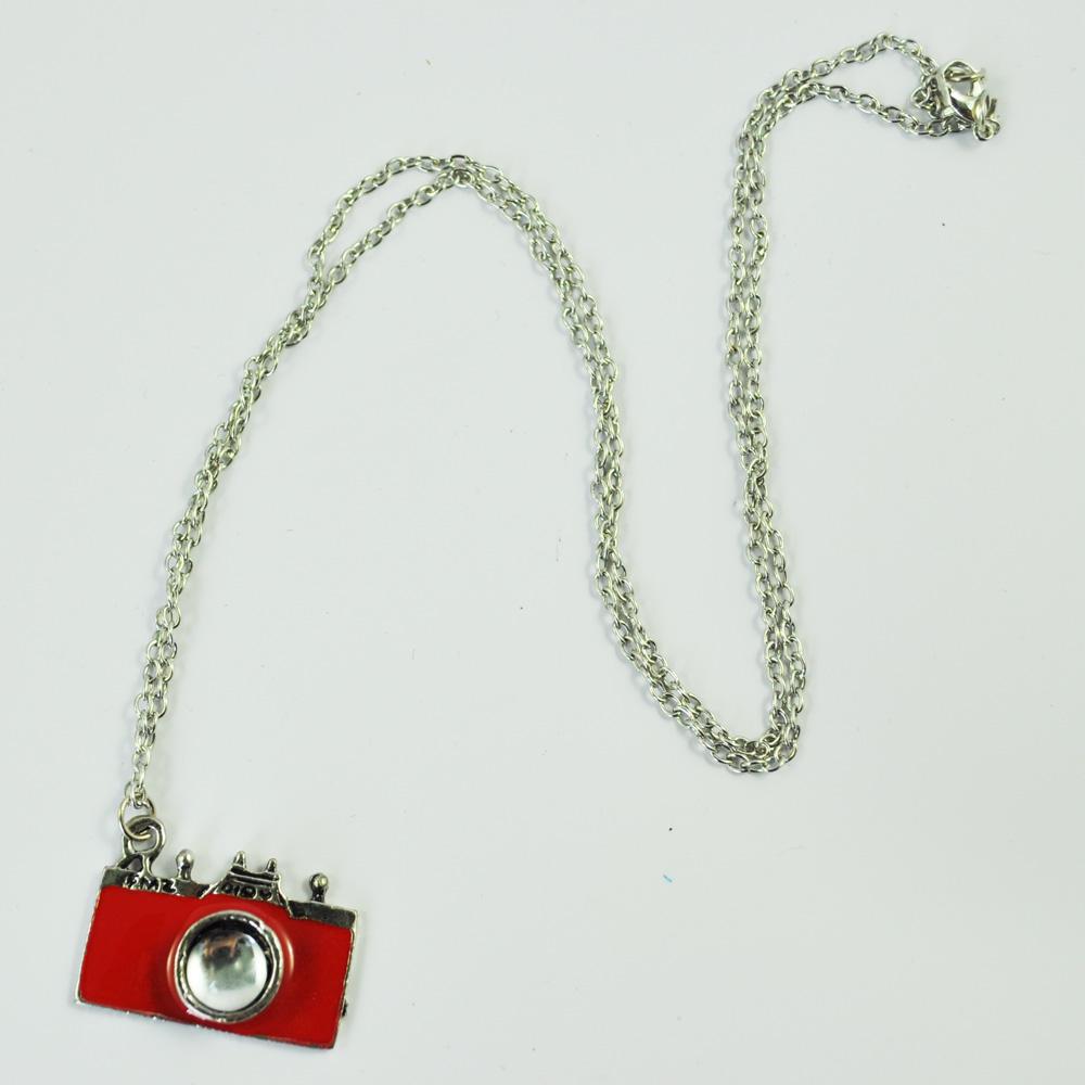 FAAJ NEW Practical Superior Red Unique Vintage Retro Camera Photographer Necklace(China (Mainland))