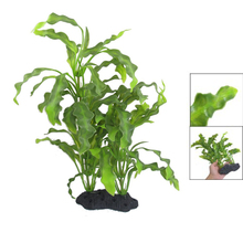 "Promotion Aquarium Fish Pet 15.7"" Plastic Manmade UnderWater Green Plants(China (Mainland))"