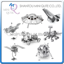 Mini Qute Piece Fun 3D outer space Mars Apollo Lunar Module Lander Satellite Hubble Telescope UFO Metal Puzzle educational toy