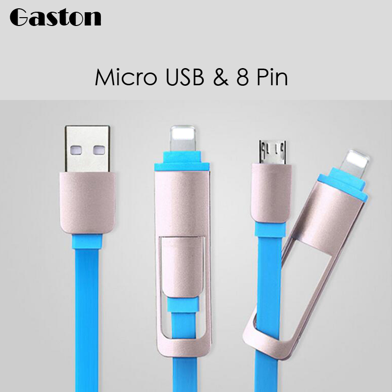 2 in 1 Micro USB Cable Data Charger Cord For iphone 6 6s Plus 5s ipadmini Samsung Galaxy S6 S7 HTC LG Sony Microusb Android(China (Mainland))