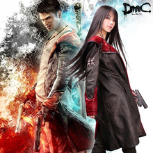 DevilMayCry5 cosplay 5 leather trench outerwear devilmaycry5 cosplay clothing pu coat(China (Mainland))