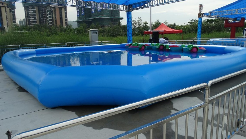 Inflatable pool outdoor large type swimming pool size 10 for Biggest paddling pool
