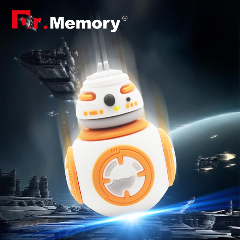 USB Flash Drive robot model Cartoon 4gb 8gb 16gb 32gb Pen drive Star Wars Hot Sale USB 2.0 Pen Drive Boy Gift Free Shipping(China (Mainland))