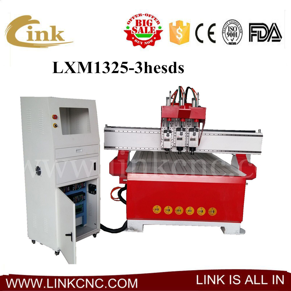Three heads 3d relief cnc wood router china mainland wood router - Heavy Duty 1325 Multi 3 Heads Cnc Router Engraving And Cutting Cnc Router