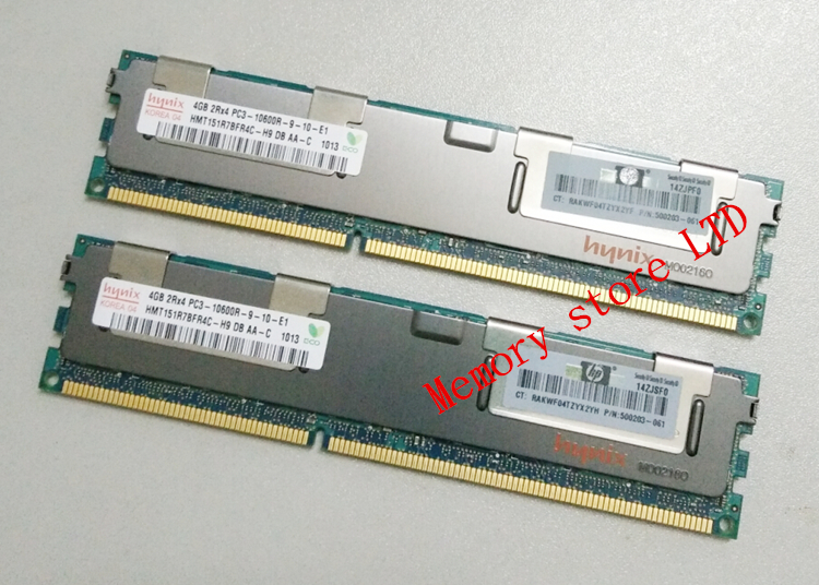 Server memory For Hynix 4GB DDR3 1333MHz PC3-10600R 4G 2Rx4 1333 ECC REG RDIMM RAM(China (Mainland))