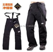 2014 men madam outdoor winter sports ski pants brand waterproof hiking Trousers trousers thick warm Veneer snowboarding pants