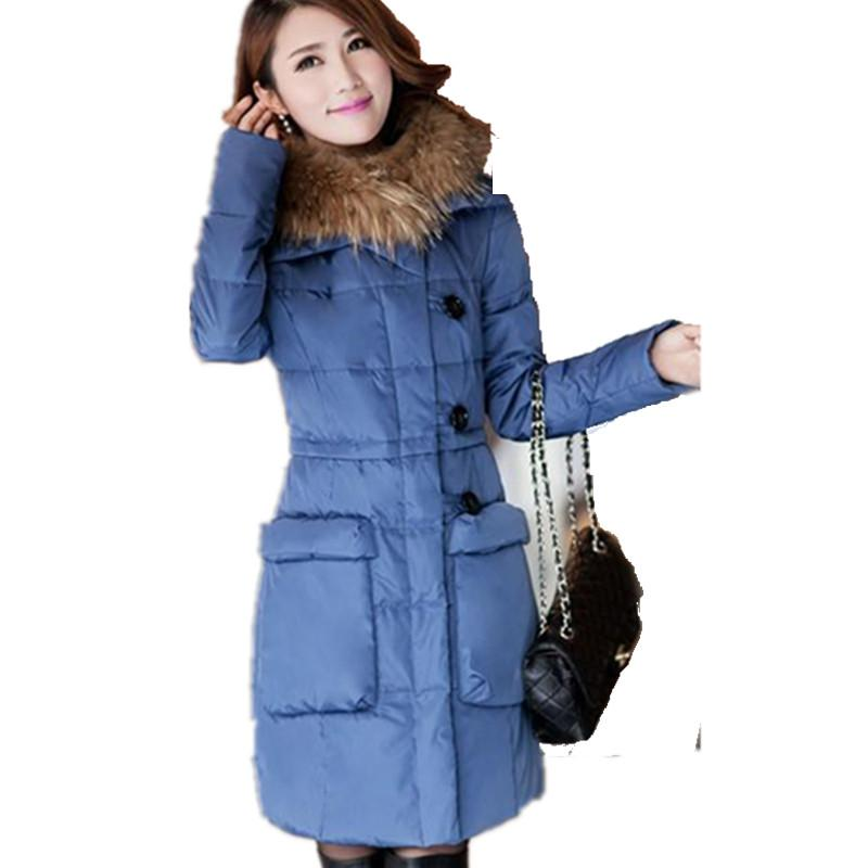 2015 Plus Size Long Winter Jacket Women Coat Thick Womens ...