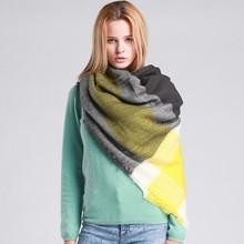 Buy Za Winter Brand Cashmere Scarf Women Blanket Scarf Plaid Wraps long Scarf Women 2017 Pashmina Cashmere Shawls Scarves tassel for $5.30 in AliExpress store
