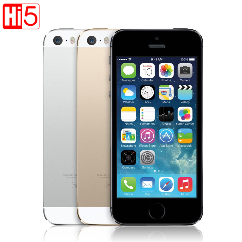 Apple iphone 5s Cell Phone Original Factory Unlocked IOS Touch ID 4.0 16GB / 32GB ROM WCDMA WiFi GPS 8MP free shipping(China (Mainland))
