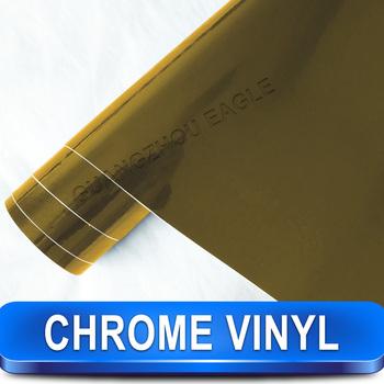 Chrome Gold Car Color Change Vinyl Wrap Film Free Shipping Wholesale
