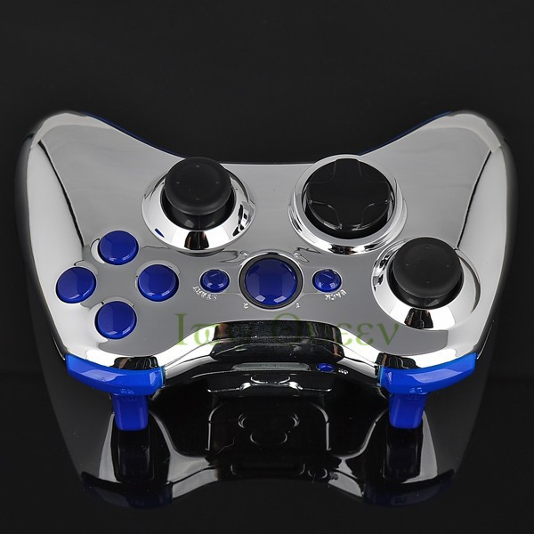 FOR xbox 360 controller chrome silver shell03