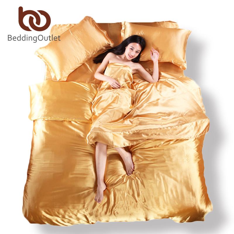 online kaufen gro handel gold seide bettbezug aus china gold seide bettbezug gro h ndler. Black Bedroom Furniture Sets. Home Design Ideas