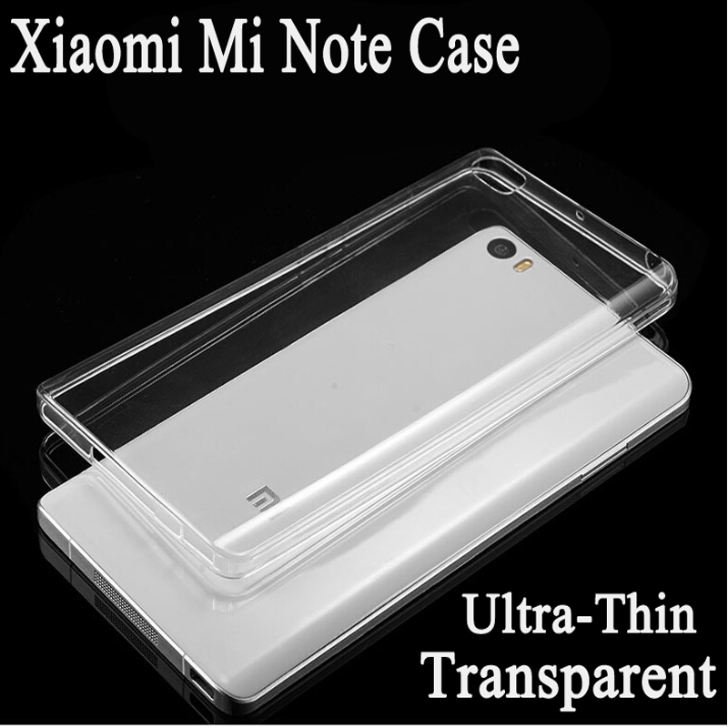 """New Xiaomi Mi Note Phone Case 5.7""""inch TPU Ultrathin Transparent Soft Silicon Crystal Clear Cover Cases Xiaomi Mi Note Pro Cases(China (Mainland))"""