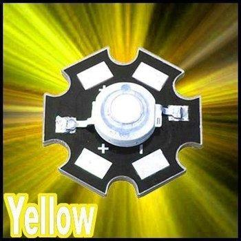Free shipping 10pcs 3W 3watt Yellow High Power 3W LED Lamp Light Bright