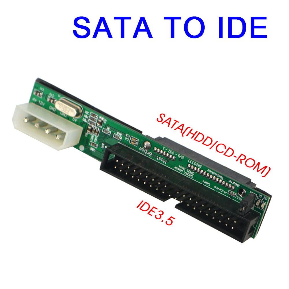 New Sata to IDE Adapter Converter 2.5 Sata Female to 3.5 inch IDE Male 40 pin port 1.5Gbs Support ATA 133 100 HDD CD DVD Serial(China (Mainland))
