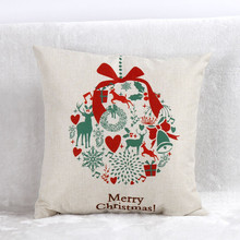 Happy home Pillow personalized pillowcase Vintage Christmas Santa Claus Bed Home Decorate Pillow Case Pillow Shams