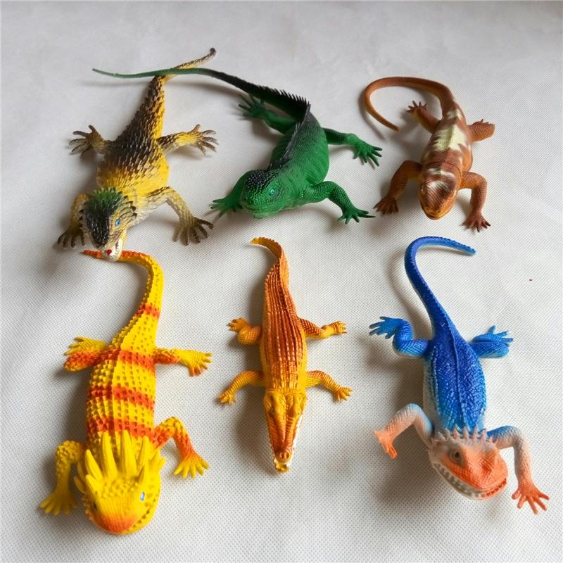 Lagartos caimanes realista simulación de sonidos de animales juguetes de plástico 6 Unids/set envío gratis(China (Mainland))