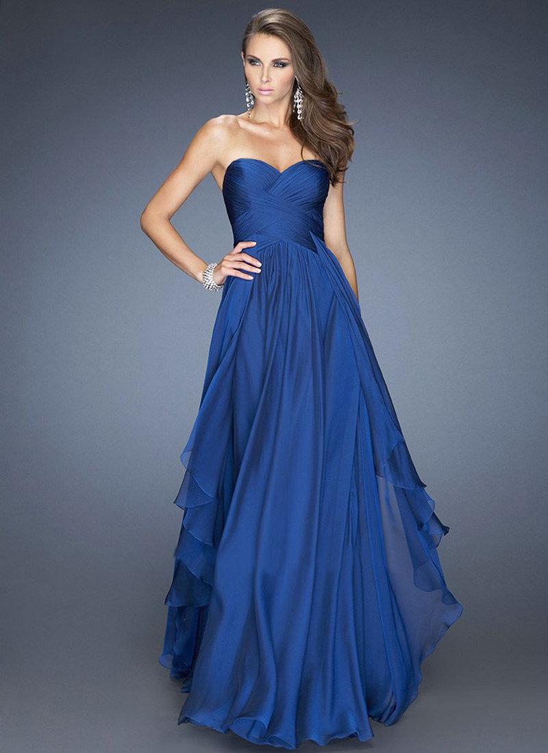 Blue Wedding Dress Simple : Royal blue emerald green chiffon dress bridesmaid dresses wedding