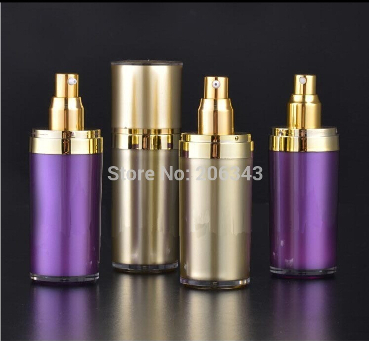 80ML Gold acrylic cone-shape pump lotion bottle,cosmetic container,press pump bottle ,Cosmetic bottle Cosmetic Packaging<br><br>Aliexpress