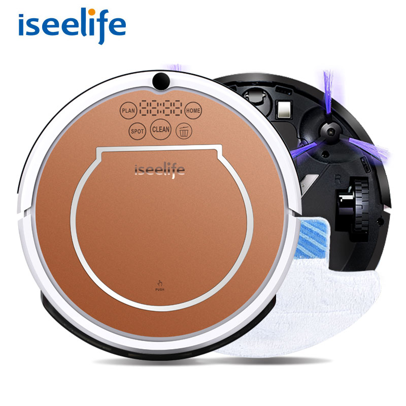 2017 ISEELIFE Wet Robot Vacuum Cleaner for Home 2 in1 PRO2S Mop Dry Wet Water Tank 800PA Auto Cleaning Smart ROBOT ASPIRADOR(China (Mainland))
