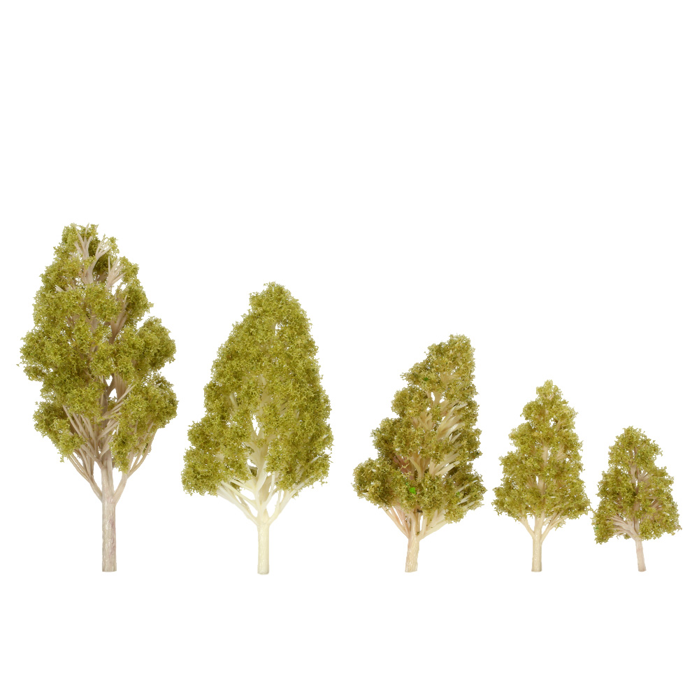 Trees Model 5Pcs/Set Plastic Architectural Model Railroad Layout Garden Landscape Scenery Diorama Miniatures Trees Model(China (Mainland))